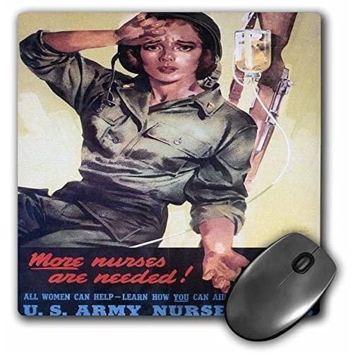 3Drose Llc 8 X 8 X 0.25 Inches Vintage More Nurses Are Needed Us Army Nurse Corps Recruiting Poster Mouse Pad (Mp_149423_1)