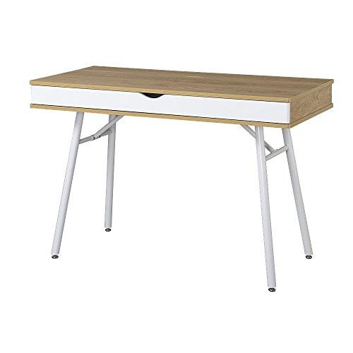 "Techni Mobili Modern Multi Computer Desk With Storage, 30"" X 21.7"" X 45.3"", Pine"