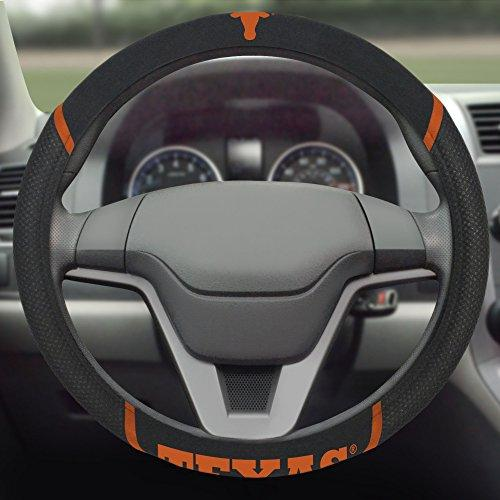 Fanmats  14825  Ncaa University Of Texas Longhorns Polyester Steering Wheel Cover