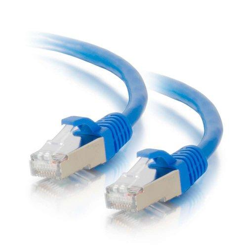 C2G 00797 Cat6 Cable - Snagless Shielded Ethernet Network Patch Cable, Blue (7 Feet, 2.13 Meters)