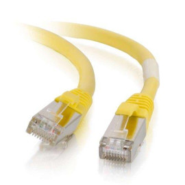 C2G 00860 Cat6 Cable -  Snagless Shielded Ethernet Network Patch Cable, Yellow (2 Feet, 0.60 Meters)
