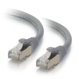 C2G 00775 Cat6 Cable - Snagless Shielded Ethernet Network Patch Cable, Gray (2 Feet, 0.60 Meters)
