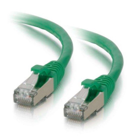 C2G 00830 Cat6 Cable - Snagless Shielded Ethernet Network Patch Cable, Green (6 Feet, 1.82 Meters)