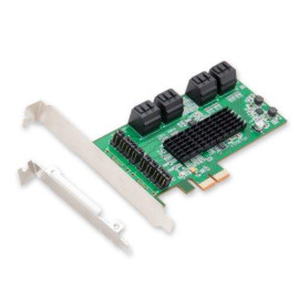 I/O Crest 8 Port Sata Iii Pcie 2.0 X2 Non Raid Controller Card Marvell 88Se9705 Chipset High Speed