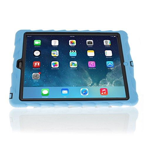 Apple Ipad Air Hideaway With Stand Blue Gumdrop Cases Silicone Rugged Shock Absorbing Protective Dual Layer Cover Case