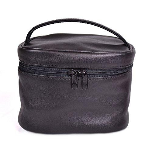 Royce Leather Chic Travel Cosmetic Makeup Bag, Black, One Size