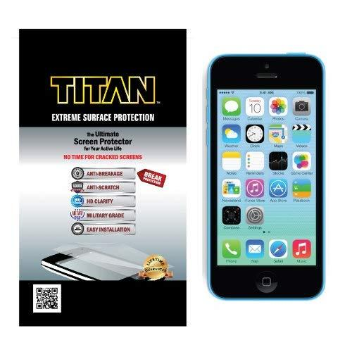 Titan Anti-Breakage Anti-Scratch Screen Protector For Iphone 5C - Frustration-Free Packaging - Clear