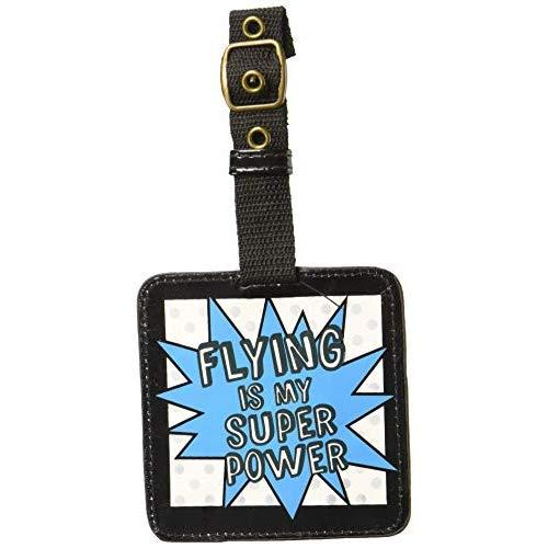 """Enesco Our Name Is Mud """"Flying Is My Superpower"""" Superhero Luggage Tag, 5.5""""X4.5"""""""