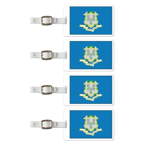 Tag Crazy Connecticut Premium Luggage Tags Set Of Four, Gold, One Size