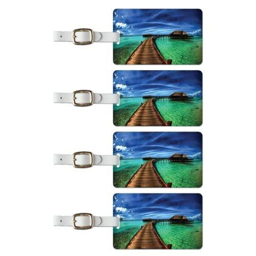 Tag Crazy South Pacific Premium Luggage Tags Set Of Four, Blue, One Size