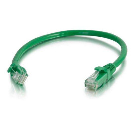 C2G 00934 Cat5E Cable - Snagless Unshielded Ethernet Network Patch Cable, Green (6 Inches)