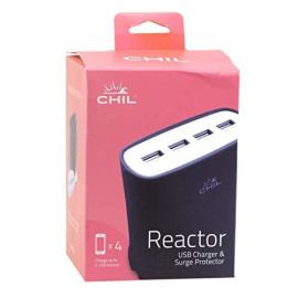 Chil Powershare Reactor 5.1 Amp Multi-Device Home Charging Station - Black (0212-4566)