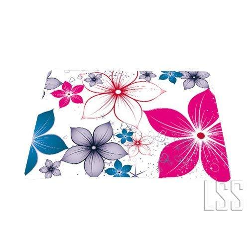 White Pink Blue Flower Leaves 1 X Standard 7 X 9 Rectangle Non - Slip Rubber Mouse Pad