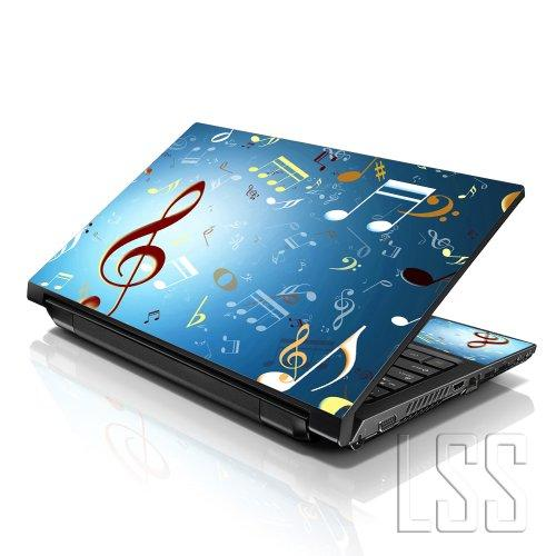 """Lss Laptop 17-17.3"""" Skin Cover With Colorful Music Notes Pattern For Hp Dell Lenovo Apple Asus Acer Compaq - Fits 16.5"""" 17"""" 17.3"""" 18.4"""" 19"""" (2 Wrist Pads Free)"""