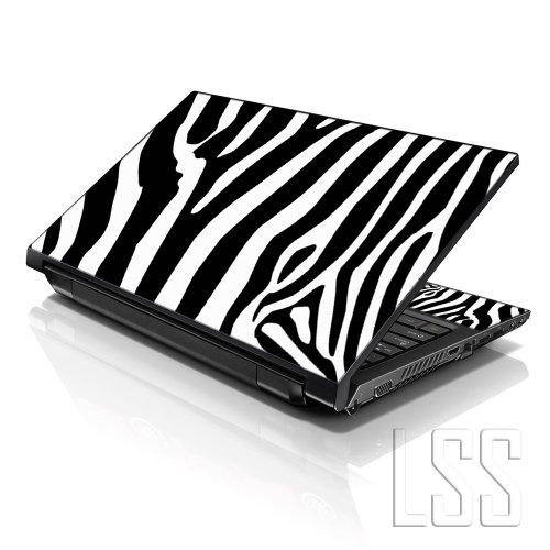 """Lss Laptop 15 15.6 Skin Cover With Colorful Zebra Print Pattern For Hp Dell Lenovo Apple Asus Acer Compaq - Fits 13.3"""" 14"""" 15.6"""" 16"""" (2 Wrist Pads Free)"""
