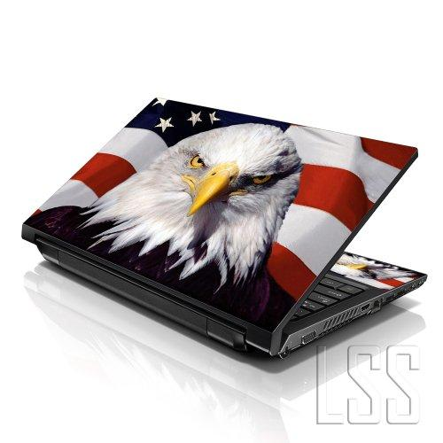 """Lss Laptop 17-17.3"""" Skin Cover With Colorful Usa Eagle Pattern For Hp Dell Lenovo Apple Asus Acer Compaq - Fits 16.5"""" 17"""" 17.3"""" 18.4"""" 19"""" (2 Wrist Pads Free)"""