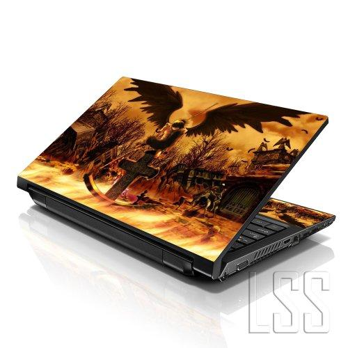 """Lss Laptop 17-17.3"""" Skin With Colorful Cross Grave Pattern For Hp Dell Lenovo Apple Asus Acer Compaq - Fits 16.5"""" 17"""" 17.3"""" 18.4"""" 19"""" (2 Wrist Pads Free)"""