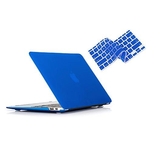Ruban Macbook Air 11 Inch Case Release (A1370/A1465) - Slim Snap On Hard Shell Protective Cover And Keyboard Cover For Macbook Air 11, Navy Blue