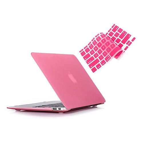 Ruban Macbook Air 13 Inch Case - Fits Previous Generations A1466 / A1369 (Will Not Fit 2018 Macbook Air 13 With Touch Id), Slim Snap On Hard Shell Protective Cover And Keyboard Cover,Pink