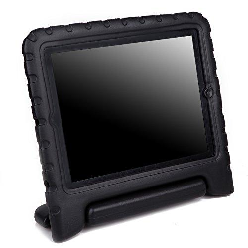 Hde Case For Ipad 2 3 4 - Kids Shock Proof Heavy Duty Impact Resistant Protective Cover Handle Stand For Apple Ipad 2Nd 3Rd 4Th Generation Tablet (Black)