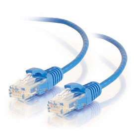 C2G 01074 Cat6 Cable - Snagless Unshielded Slim Ethernet Network Patch Cable, Blue (2 Feet, 0.60 Meters)