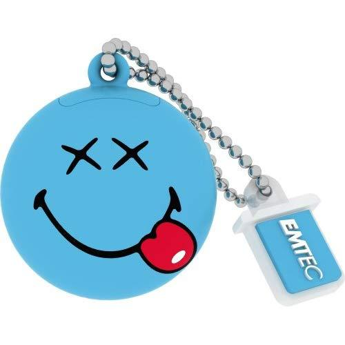 Emtec Smiley World 8 Gb Usb 2.0 Flash Drive, Blue