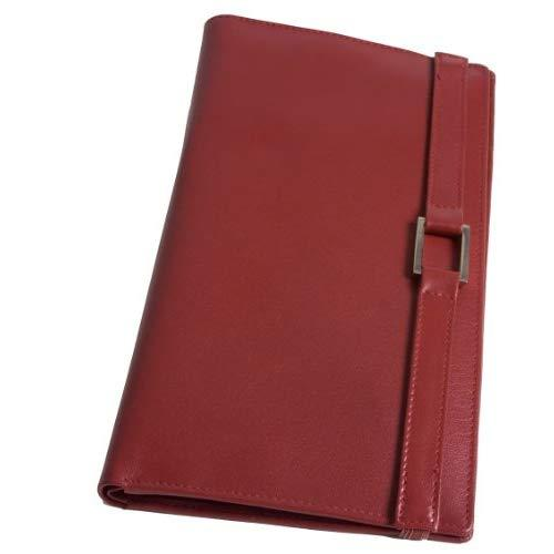 Leather Travel Wallet- Red