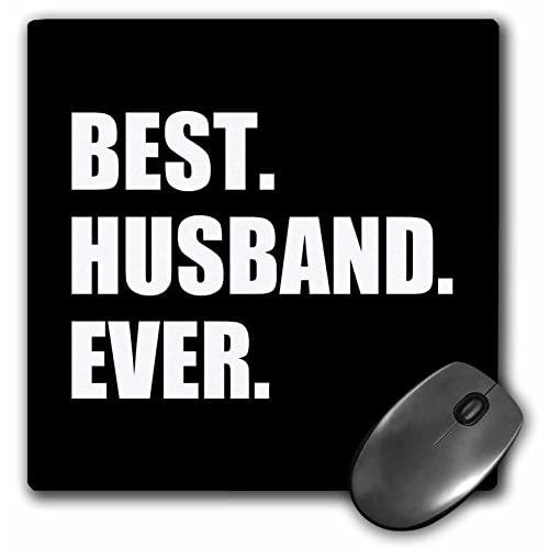 3Drose Best Husband Ever Black White Text Anniversary Valentines Day For Him Mouse Pad (Mp_179722_1)