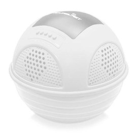 Portable Waterproof Floating Pool Speaker - Outdoor Wireless Bluetooth Compatible Rechargeable Battery Powered Shower Loud Speaker System - Usb Charger - Ipod Android Iphone - Pyle Pwr90Dwt (White)