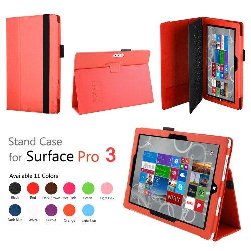 Elsse (Tm) Premium Folio Case With Stand For Microsoft Surface Pro 3 (Keyboard And Tablet Not Included) (Surface Pro 3, Orange)