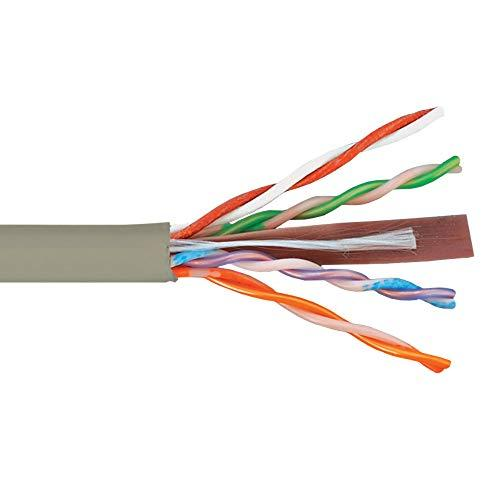 Icc 500Mhz Cat6 Bulk Cable With 23 Awg Utp Solid Wires, Cmp Jacket In A Pull Box, 1000 Feet In Gray