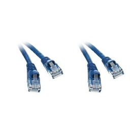 Cat6 Blue Ethernet Patch Cable, Snagless/Molded Boot, 6 Inch - 2 Pack