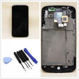 Full Lcd Display Touch Screen Digitizer + Frame Assembly For Lg E960 Nexus 4 + T