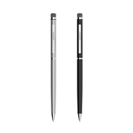 Ampen Stylus - Hybrid 2-In-1 Touchscreen Stylus And Ink Pen (2-Pack, Black And Brushed Aluminum)
