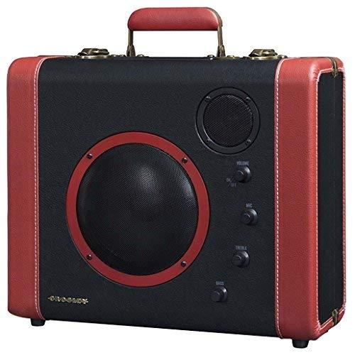 Crosley Cr8008A-Bk Soundbomb Portable Bluetooth Speaker With Aux-In And Microphone Jack, Black &Amp; Red