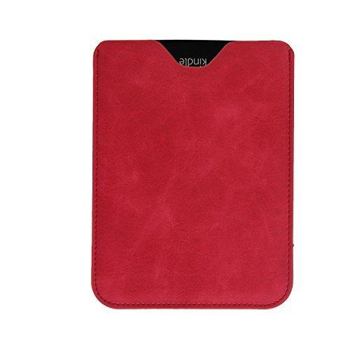 "Bear Motion Premium Slim Sleeve Case Cover For Kindle Paperwhite And The All-New Kindle Paperwhite (2012, 2013 And Current Versions With 6"" Display) (Red)"