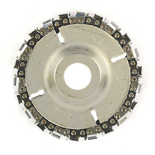 Superior Steel Ss478 Ez Install 22 Tooth 4 Inch Fine Cut Angle Grinder Disc And Chain - 7/8 Inch Arbor