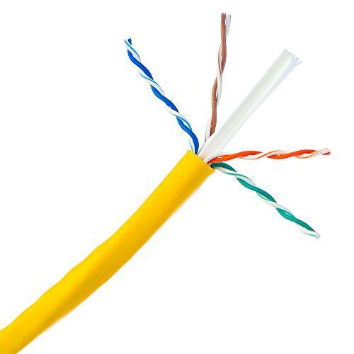 Bulk Cat6 Yellow Ethernet Cable, Solid, Utp (Unshielded Twisted Pair), Pullbox, 1000 Foot