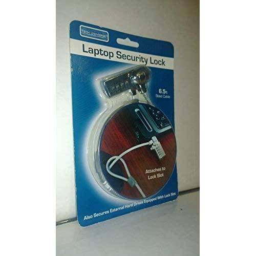 Tech Universe Laptop Security Lock 6.5 Feet Steel Cable