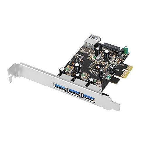 Siig Legacy &Amp; Beyond Ju-P40611-S2 Superspeed Dp 4 Ports Pci-E To Usb 3.0 High Performance Adapter Card With 15Pin Sata Power, 3X9-Pin External And 1X9-Pin Internal Connector