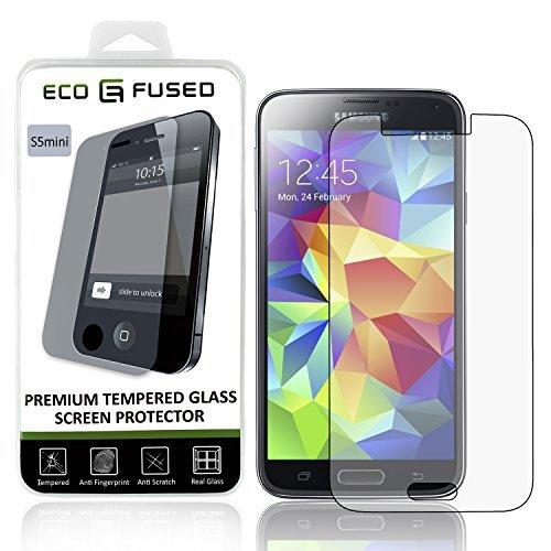 Eco-Fused Premium Tempered Glass Screen Protector Compatible With Samsung Galaxy S5 Mini - Glass Screen Protectors With Oleophobic Coating - Anti Fingerprint And Anti Scratch