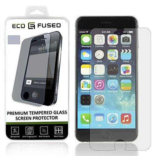 Eco-Fused Tempered Glass Screen Protector Compatible With Apple Iphone 6 Plus / 6S Plus - Glass Screen Protector With Oleophobic Coating - Anti Fingerprint And Scratch