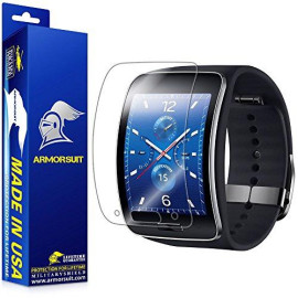 Armorsuit Samsung Gear S Screen Protector (2 Pack) Full Coverage Militaryshield Screen Protector For Gear S -Hd Clear Anti-Bubble