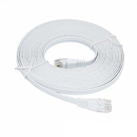 15-Feet Premium Ultra Cat6 550 Mhz Flat Patch Cable, White (Cne52824)
