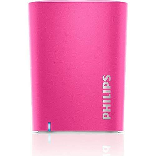 Philips Bt100P/27 Wireless Mini Portable Bluetooth Speaker, (Pink)