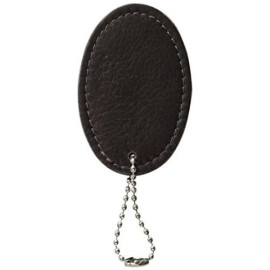 Piel Leather Oval Bag Tag, Chocolate