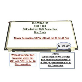 """B156Xw04 V.8 New Replacement 15.6"""" Led Lcd Screen Wxga Hd Laptop Glossy Display 30 Pin Edp Ultra Slim (Or Compatible)"""