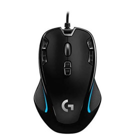 Logitech G300S Optical Ambidextrous  Gaming Mouse - 9 Programmable Buttons, Onboard Memory