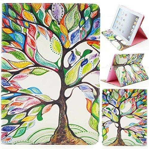 Ipad 2 Case, Ipad 2 3 4 Case, Gift_Source (Slim Fit) (Stand Feature) Folio Flip Pu Leather Case Cover Skin Back Case For Apple Ipad 2 / Ipad 3 / Ipad 4 (Colorful Tree Tribe),Not For Ipad Air