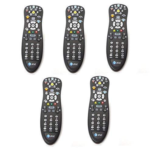 5-Lot Genuine At&Amp;T U-Verse Uverse S10-S4 Standard Ir Infrared Multifunctional Digital Dvr Tv Television Universal Cable Box Black Remote Control Compatible Part Numbers: D-5456262551911, Cyb Ug-R#0713